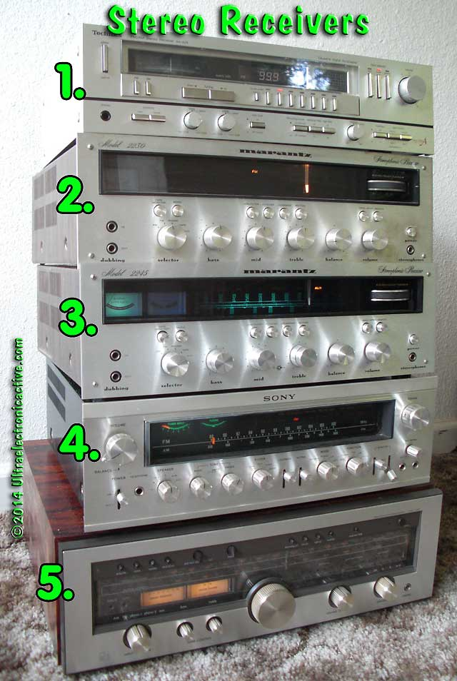 Vintage 70's Stereo Receivers