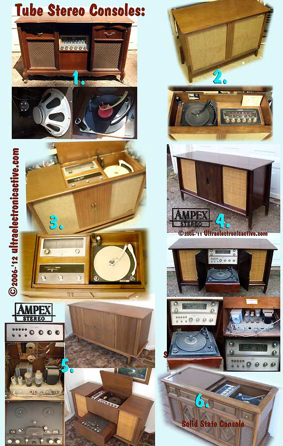 Mid Century Vacuum Tube Stereo Consoles with Record Changer to be refurbished to order.