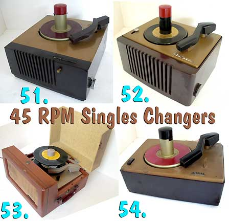 Selection of 45 RPM record changers