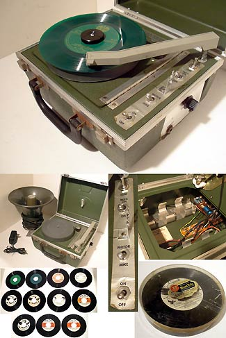 Battery Operated 4 Speed Portable Record Player
