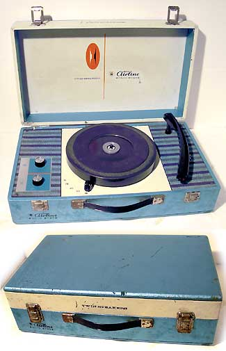 Airline Twin Speaker Portable Record Player