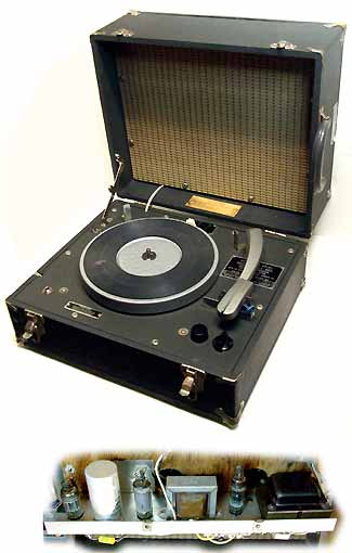 8 RPM Commercial Tube Amplified Record Player