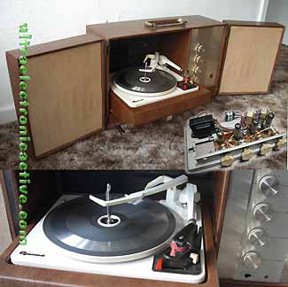 Vintage1960's Hi-Fi Stereo Tube amplifed record changer