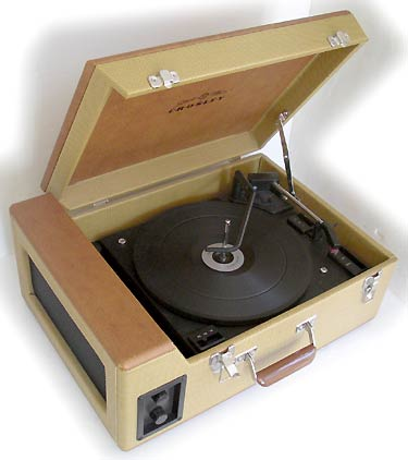 All in one portable record changer