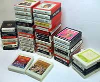 Factory Recorded 8 Track Music Cartridges