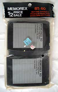 8 Track blank Tape Recording Cartridge - Memorex 2 Pk