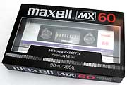 NOS Maxell MX-60 Cassette Tape, black