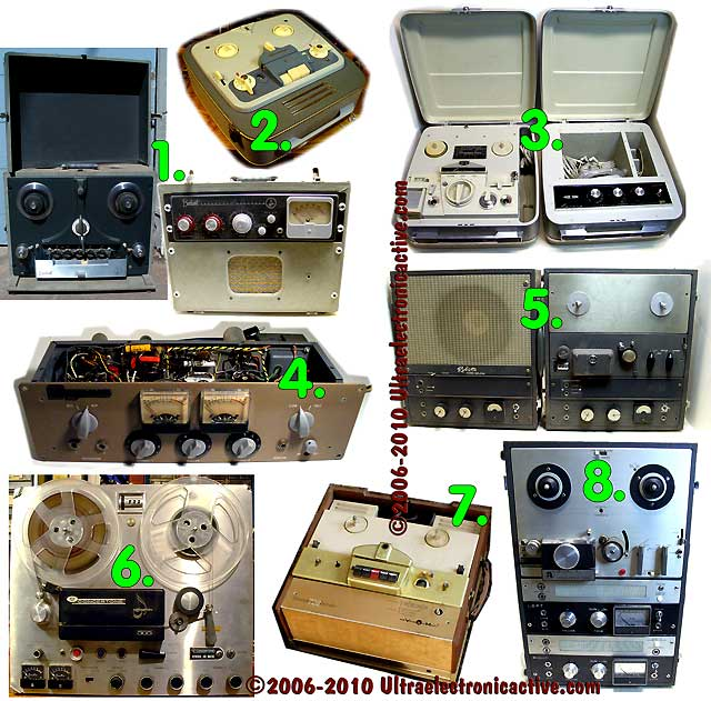 The slection of 1950's tube reel to reel decks to be refurbished to order.