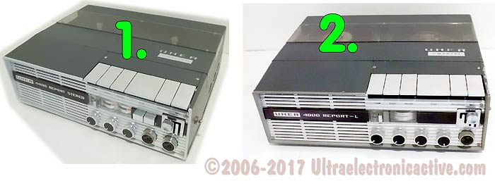 The slection UHER Professional reel to reel decks to be refurbished to order