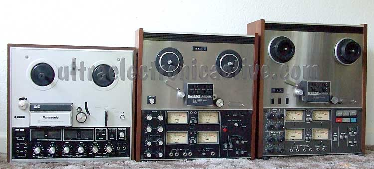 4 channel quadraphonic and multi track Open Reel Tape Recorders with simulatanious sync