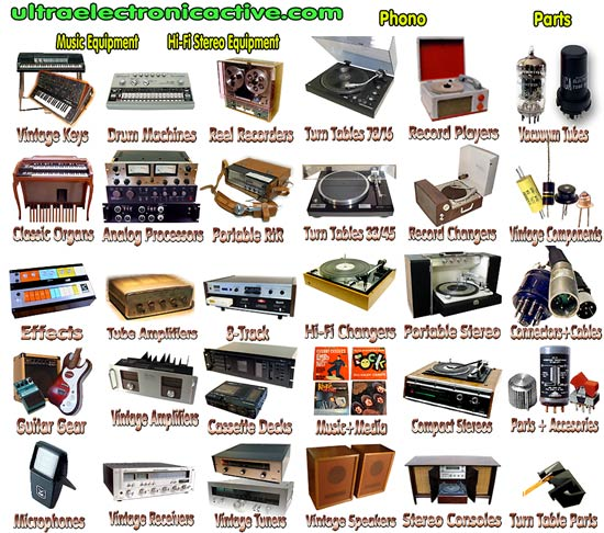 Vintage Audio Equipment, Acessories and Parts For Sale